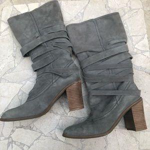 Grey suede banana republic boots